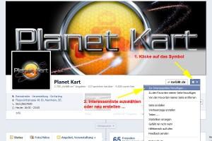 Interessen bei Facebook aktivieren ...