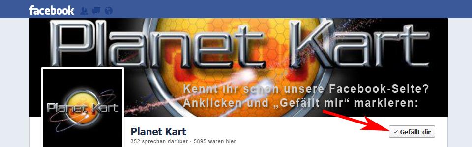 Planet Kart bei Facebook